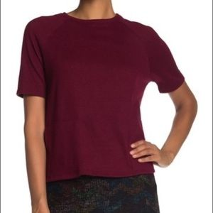Go Couture short sleeve knit pullover NWT